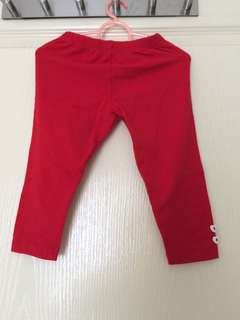 Padini Red Leggings
