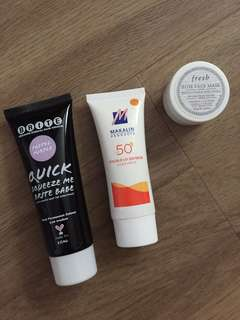 🚚 Assorted Hair Dye, Sunscreen And Face Mask