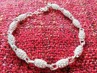 Sterling Silver hollow beads Chain Bracelet