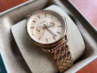 Fossil Rose Gold Watch For Sale