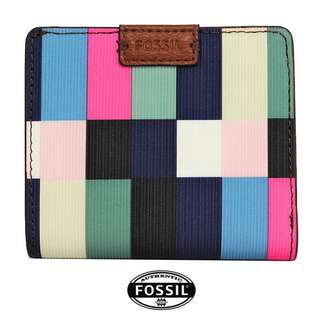 Authentic Fossil Leather B-Fold Small Wallet-Free Postage