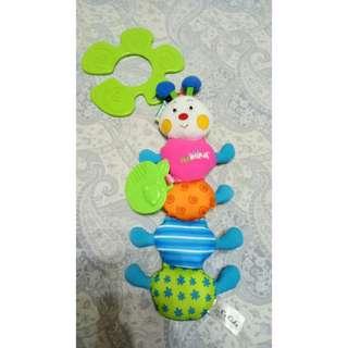 Funky Inchworm Stroller Toy