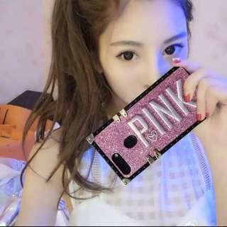 iPhone &OPPO &vivo 手機系列 女神款 PINK 復古刺繡 防摔 手機殼