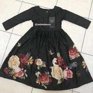 KIDS NEW (S) LEEYANARAHMAN VINTAGE DRESS