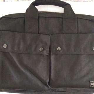 日本Porter briefcase帆布公事包