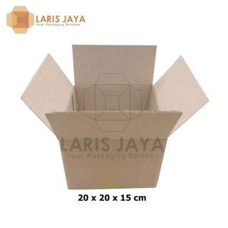 Kardus / Box Packing Isi 8 Pcs Polos 20 x 20 x 15 cm