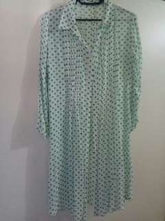 Dress hijau polkadot