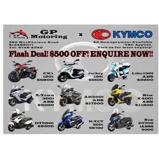 2018 KYMCO PROMOTION