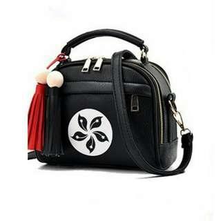 Faux Leather Tassel Bag