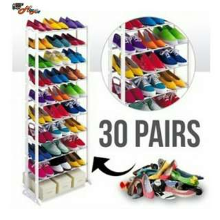 Amazing shoe rack/holder 10 layers holds 30 pcs shoes