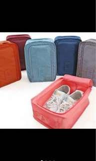 Travel shoe pouch organizer storage bag