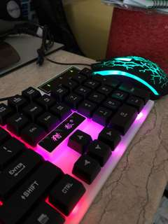 Gaming Keyboard + Mouse + Mousepad