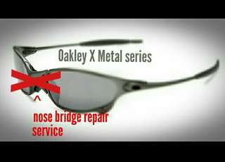 Oakley X METAL Penny Juliet Romeo XX Nose Bridge Repair Restore Xmetal Mars Half X X Carbon Ducati NoseBridge Spare Rubber Parts Kit Service Squared tour de France