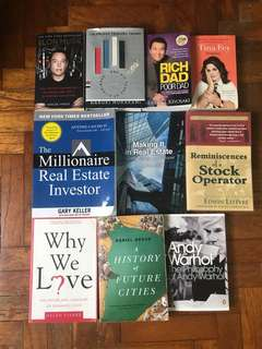 Books for sale (2 for $10) free mail