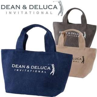 日本 灰色 dean & deluca  厚實帆布大容量手拎包 手提袋 飯盒袋  托特包