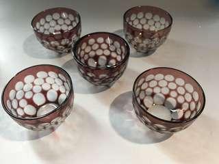 藝術玻璃酒杯5個套裝