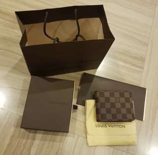 LV Bifold Damier Brown
