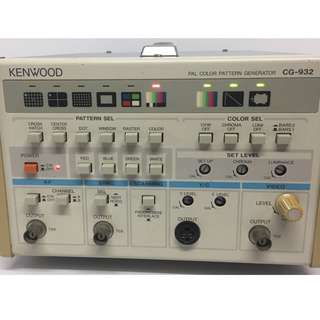 KENWOOD CG-932 PAL COLOR PATTERN GENERATOR