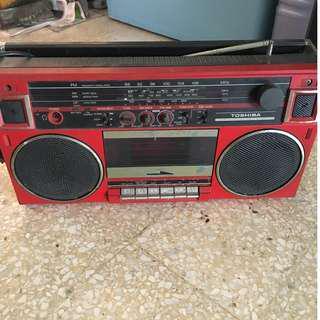 Vintage Toshiba AM/FM/TV Stereo Radio Cassette Player