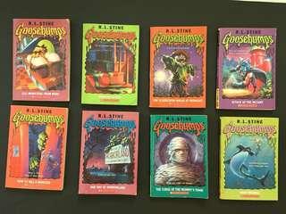 Children story books: Goosebumps ($20 for any 4 books)