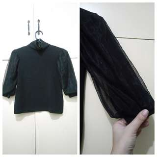 GA89 Black Formal Blouse for Girls 4/5 - see pics for Measurements