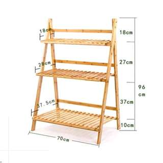 3 Tier Wooden Shelves