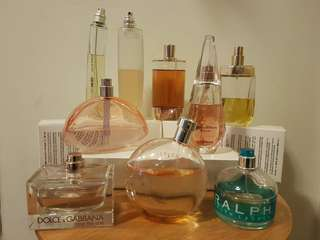 Authentic Perfumes and Frangrances (edt and edp) for Women and Men