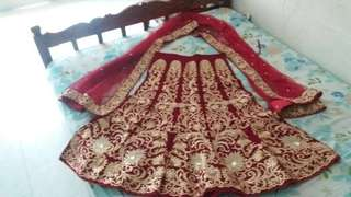 NEW-Bridal Lehenga for rental