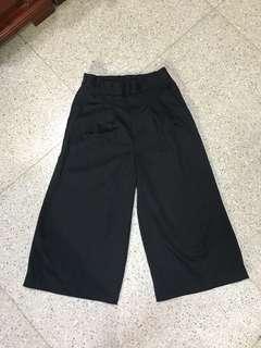 Celana culotte/kulot hitam