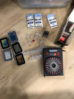 Various Zippo products