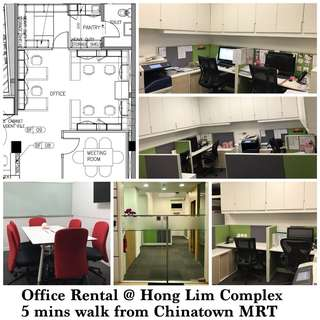 Fully-fitted and furnished Office for rental