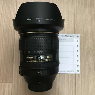 Nikon 24-120mm f4 G (公)