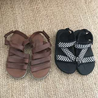 Combo Zara Kids Unisex leather Sandals / shoes