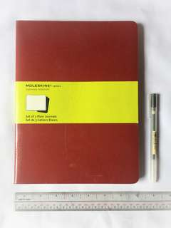 Moleskine Extra Large 3 Cahiers Red