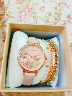 🚚 Aeropostale女用錶+手鍊