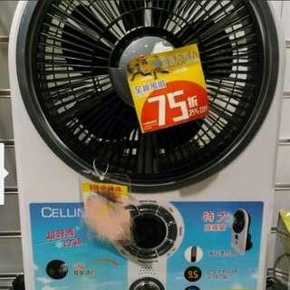 Cellini 里尼超聲波冷霧五段調節電風扇 (附遙控)