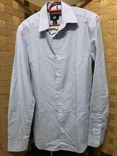 H&M Blue Stripes Shirt XS