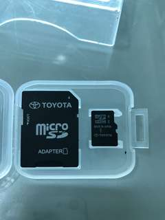 Toyota player sd card