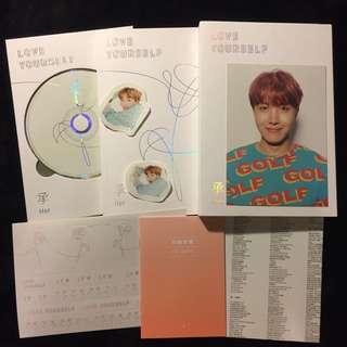 🦄Hobi🦄防彈少年團 鄭號錫 台壓專輯 大卡 BTS Jhope Love Yourself 承 Her🖤V版