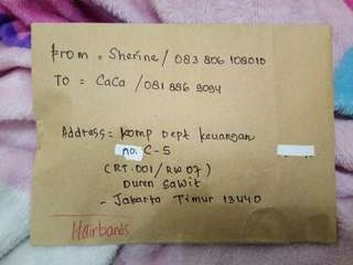 TESTI⚡ thankyouu.. Ms. CACA💕             for shopping with us!🙏