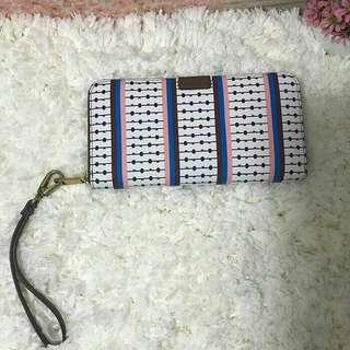 Fossil Emma Zip Long Wallet Ecru RFID