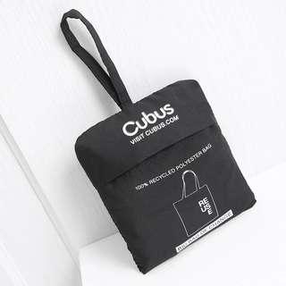 Reuse 黑色 簡約字母大號便攜式可折疊超市購物袋環保袋手提袋