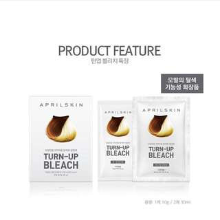 APRIL SKIN - Turn-Up Bleach: Bleaching Agent 10g + Oxidizing Agent 30ml