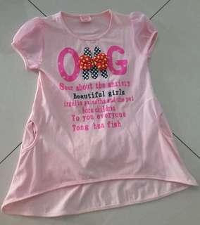 OMG girl pink tshirt
