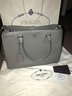 Authentic PRADA bag in Marmo (saffiano lux)