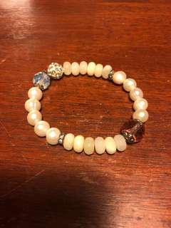 Korea Pearls agate crystals bracelet