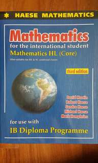 🚚 IB Mathematics HL (Haese) textbook