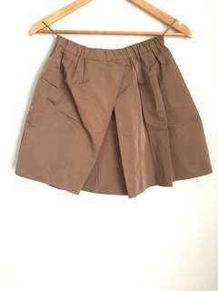 Numero Ventuno Brown Puffy Parachutes Skirt