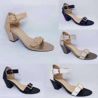 Buckled Block Heels