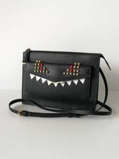 Authentic Fendi Monster Crossbody Clutch Bag